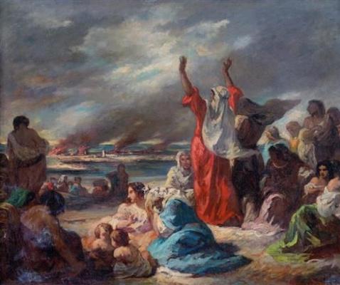 Эжен Делакруа. Сцена из Исхода