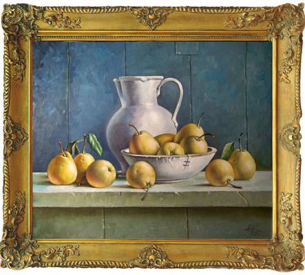 Евгений Квавадзе. Натюрморт с грушами. 2016