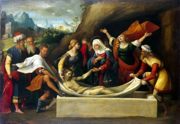 Бенвенуто Тизи да Гарофало. Положение во гроб