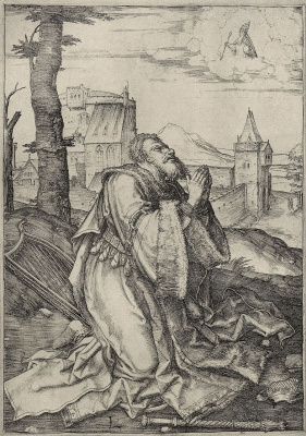Lucas van Leiden (Luke of Leiden). David on prayer