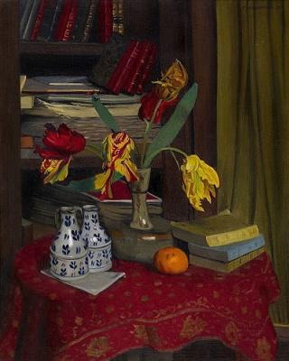 Felix Vallotton. Tulips in the library