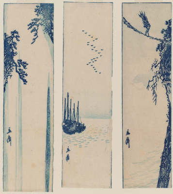 Utagawa Hiroshige. Triptych: The Landscapes Of Japan