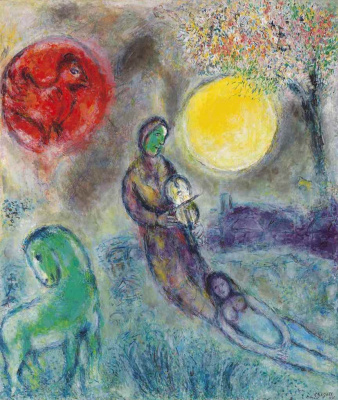 Marc Chagall. The Fiddler and the moon