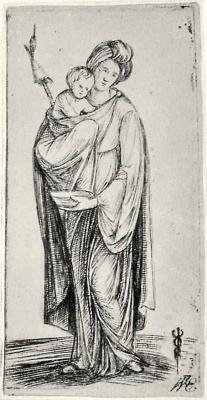 Якопо де Барбари. Женщина с ребенком и веретеном