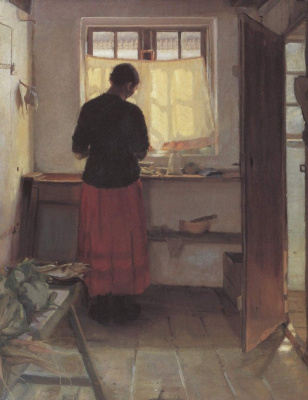 Анна Анкер. Девушка на кухне