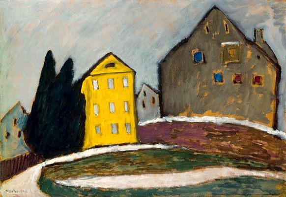 Gabriele Münter. Yellow house