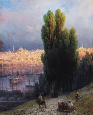 Иван Константинович Айвазовский. Константинополь, вид на Золотой Рог