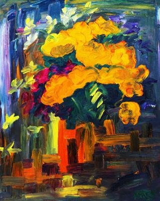 Kandinsky-DAE. Flowers at the entrance to terasu.H.m., 50-40, 1985