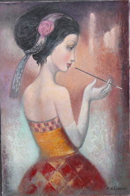 Emzar Khabuliani. The girl with the mouthpiece