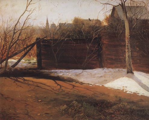 Alexey The Kondratyevich Savrasov. Spring. Etude