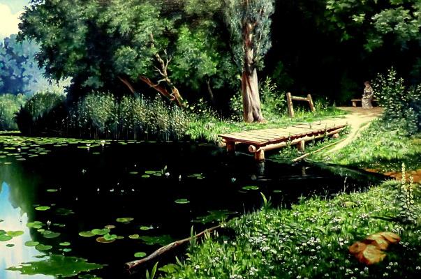 Valery Vasilyevich Litvinov. Overgrown Pond (copy of Polenov)