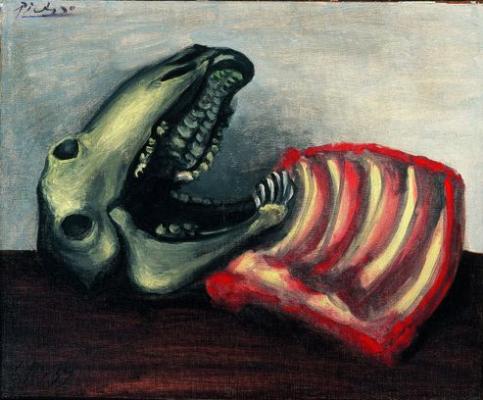 Пабло Пикассо. Натюрморт с овечьим черепом
