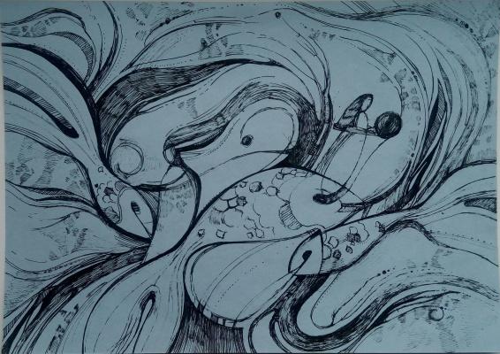 Svetlana Vladimirovna Timofeeva. Underwater fantasy