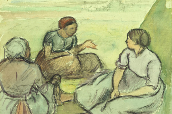 Camille Pissarro. Three peasant women