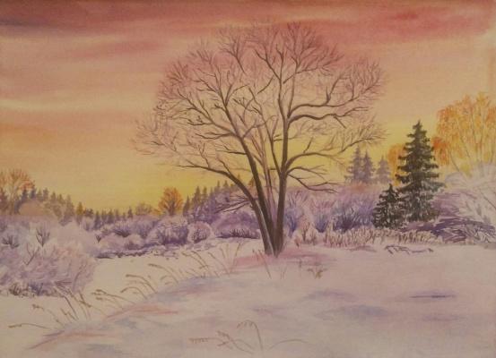 Olga Vladimirovna Nadtochaeva. Winter sunset