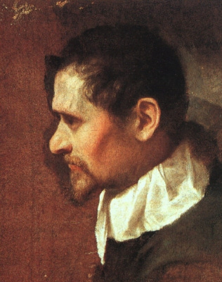 Annibale Carracci. Self-portrait in profile