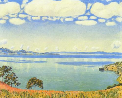 Фердинанд Ходлер. Вид Женевского озера с Шебре