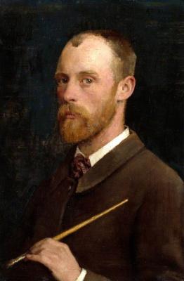 George Clausen. Self-portrait