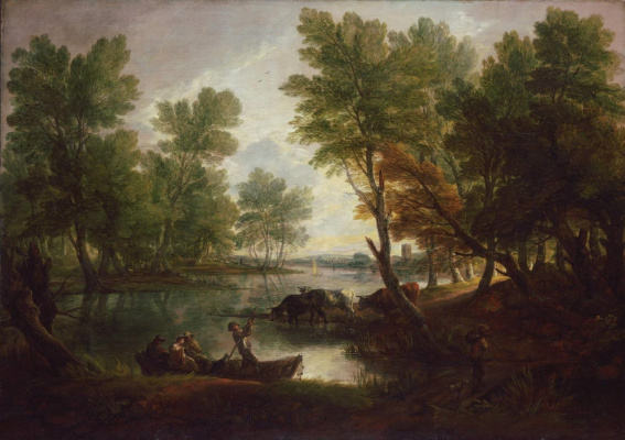 Thomas Gainsborough. Landscape near king's Bromley, on Trent, Staffordshire