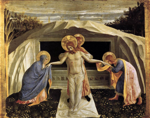 Fra Beato Angelico. The burial of Christ. The altar of the monastery of San Marco. Limit 4 (center)
