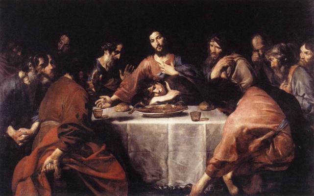 Valentin de Boulogne. The last supper