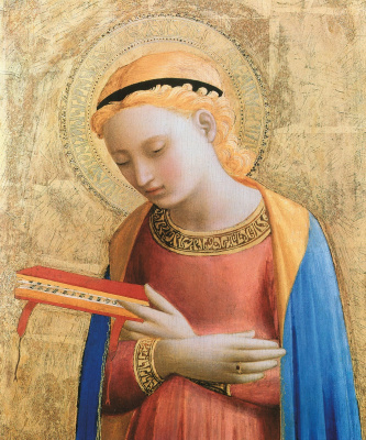 Fra Beato Angelico. Virgin Mary of the Annunciation. 1450 -1455