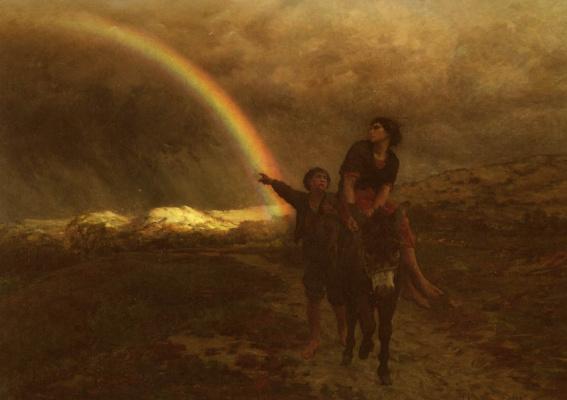 Jules Breton. Rainbow