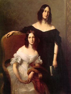 Эдуард Луи Дюбюф. Две дамы