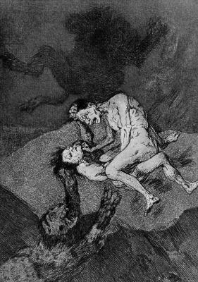 "Francisco Goya. Series ""Caprichos,"" sheet 62: Incredible!"