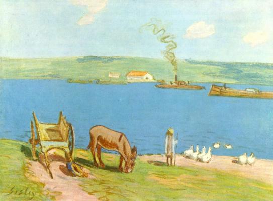 Alfred Sisley. The river