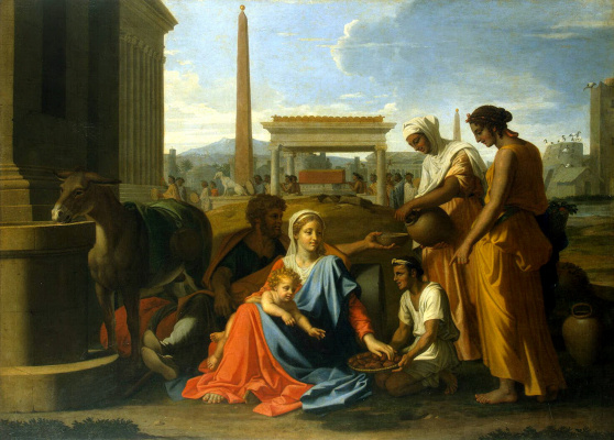 Nicola Poussin. The Holy Family in Egypt