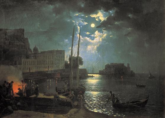 Sylvester Feodosievich Shchedrin. Moonlit night in Naples