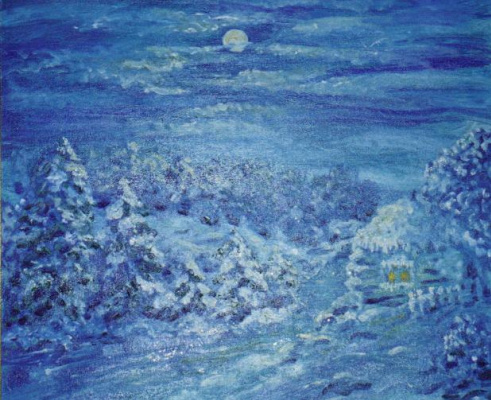 """Rita Arkadievna Beckman. """"... The frozen world of trees and plants shines with moon silver ..."""" (N. Zabolotsky)"""