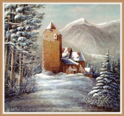 Карл Иллини. Замок зимой
