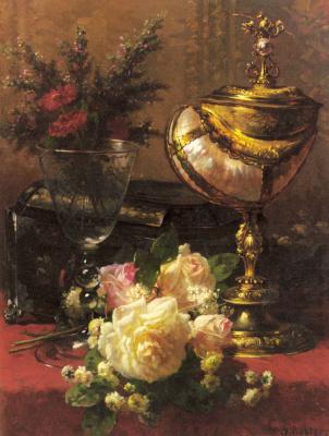 Жан-Батист Роби. Букет из роз