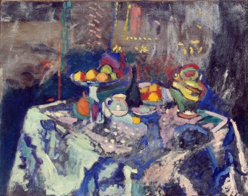 Henri Matisse. Vase, bottle and fruit