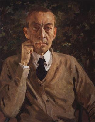 Константин Андреевич Сомов. Портрет С. Рахманинова