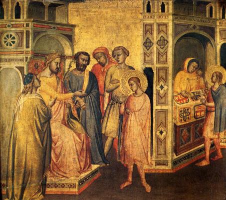 Taddeo Gaddi. St. Eloi before king