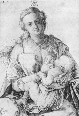 Мадонна кормящая ребенка. 1512