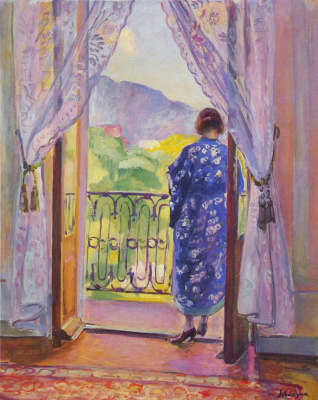 Henri Lebasque. Blue Bathrobe