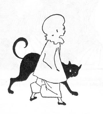 Обри Бердслей. Пьеро и кот