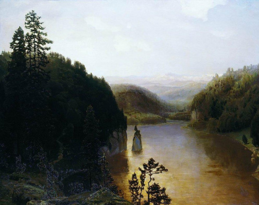 Apollinarius Mikhailovich Vasnetsov. Mountain lake in Bashkiria
