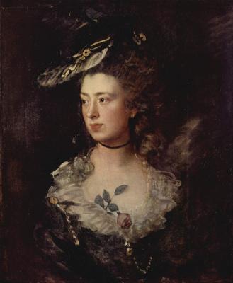 Thomas Gainsborough. Portrait of Mary Gainsborough, daughter of the artist