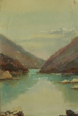 Владимир Алексеевич Бернадин. Озеро Амткел. Абхазия