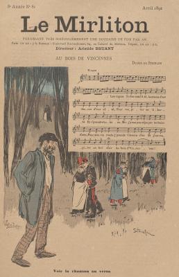 """Теофиль-Александр Стейнлен. Иллюстрация для журнала """"Мирлитон"""" № 81, апрель 1892 года"""