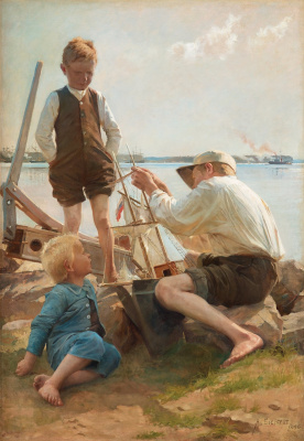 Альберт Густав Аристид Эдельфельт. Судостроители. 1886