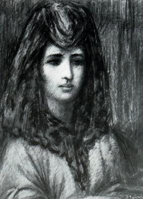 Теофиль-Александр Стейнлен. Женский портрет