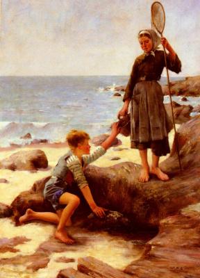 Жюль Бастьен-Лепаж. Дети на берегу