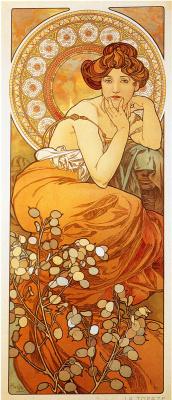 Alphonse Mucha. Topaz. A series of gems