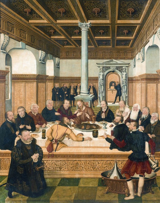 Lucas the Younger Cranach. The last supper
